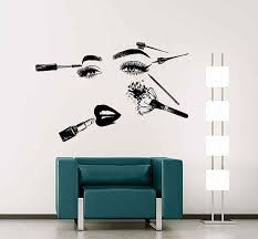 Girl Face Wall Decals Model Girl Wall Decal Beauty Salon Tools Make Up Wall Decal Girls Eyes Lips Wall Dec Face Wall Decal Girls Wall Decals Nail Salon And Spa
