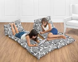 Black White Damask Kids Teen Floor Pillow Case Lounger Cushion Cover By Sweet Jojo Designs Only 26 40