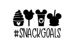 Disney Inspired Snackgoals Vinyl Decal Sticker Diy Custom Etsy