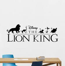 Lion King Wall Decal Simba Nursery Vinyl Sticker Disney Cartoon Decor Art 187crt Ebay