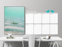 Whiteboard Weekly Calendar Wall Decal Dry Erase Calendar Etsy