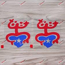 Amazon Com 2x Red Blue 4 Puerto Rico Flag Color Coqui Frog Taino Decal Sticker Boricua Car Vinyl Arts Crafts Sewing