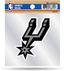 Amazon Com San Antonio Spurs Primary Logo Premium 4x4 Decal With Clear Backing Flat Vinyl Auto Home Sticker Basketball Arts Crafts Sewing