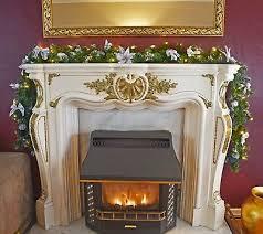 pre lit silver luxury fireplace