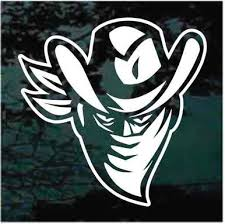 Outlaw Bandit Cowboy Car Decals Window Stickers Decal Junky