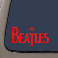 The Beatles Decal Sticker 5 5 Inches Red Vinyl Decal Car Truck Van Suv Laptop Macbook Wall Decals Walmart Com Walmart Com