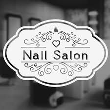 Nail Salon Window Decal Vinyl Wall Sticker Art Decoration Beauty Hair Salon Sign Custom Shop Name Removable Mural 3w10 Wall Stickers Aliexpress