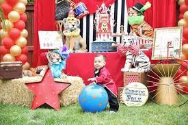 Kara S Party Ideas Circus Carnival 1st Birthday Party