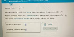 writing equations of lines parallel