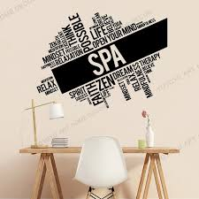 Vinyl Wall Stickers Beaaty Salon Mural Home Decor Diy Spa Wall Decal Zen Relaxation Relax Massage Words Cloud Sticker Jc293 Wall Stickers Aliexpress