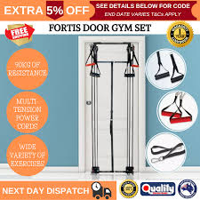 fortis door home gym set rope tower gym