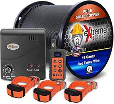 Amazon Com Electric Dog Fence Remote Trainer 3 Dog 1000 Of 16 Gauge Underground Dog Fence Wire Up To 1 Acre Dual Solution To Contain And Train Your