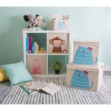 Shop Dii Polyester Felt Stitched Decorative Kid Storage Cube With Lid Overstock 23505896 Caddy Kitty