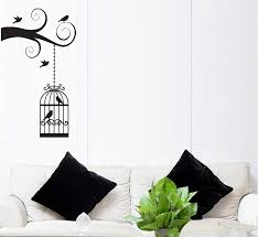 Wall Decal Sticker Removable Tree Branch And Birdcage 23 5 X 37 Fgd Brand Family Graphix Llc
