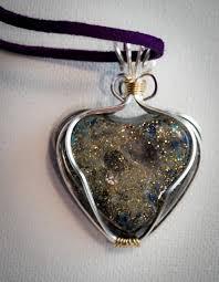 new heart orgone gem pendant necklace