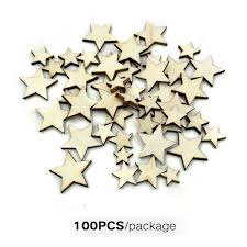 size mixing gifts wooden stars light
