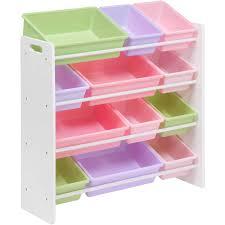 Honey Can Do Kids Toy Organizer With 12 Storage Bins White Walmart Com Walmart Com