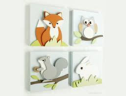 Free Patterns For Adorable Woodland Animals Wall Art Art U Create