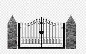 Fence Gate Wrought Iron Infisso Fence Building Outdoor Structure Png Pngegg