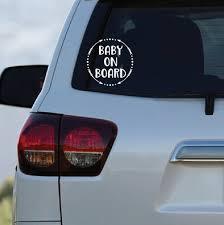Baby On Board Car Decal Window Sticker Etsy