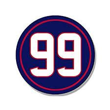 Round 99 J J Watt Texans Colors Sticker Decal Jj 99 Number Houston Size 4 X 4 Inch Walmart Com Walmart Com