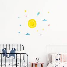 Big Bang Sun Solar System Space Wall Decal For Kids Rooms Made Of Sundays