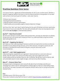 ppt triathlon nutrition clinic series