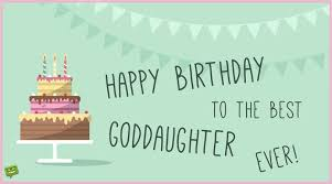 birthday card for goddaughter pic of cake and garlands