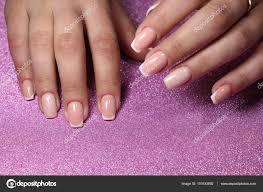 French Manicure Pink Polish Papillon Day Spa