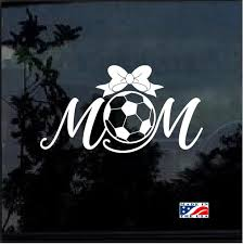 Soccer Mom With Bow Window Decal Sticker Custom Sticker Shop