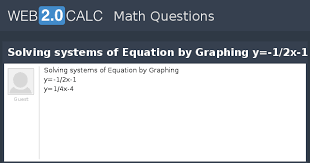 solving systems of equation by graphing