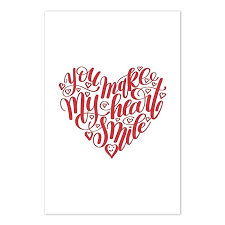 Amazon Com You Make My Heart Smile Love Quote Poster Handmade