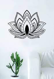 Lotus Flower V5 Design Decal Sticker Wall Vinyl Decor Art Namste Om Yo Boop Decals