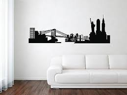New York City Skyline Wall Decal Nyc Silhouette Vinyl Home Art Decor Sticker Ebay