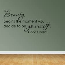 Wall Decal Quote Beauty Begins The Moment You Decide Coco Chanel Sticker R66 Walmart Com Walmart Com