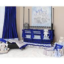 preston royal blue crib bedding set