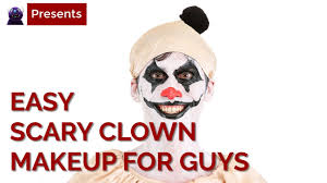 easy scary clown makeup tutorial for