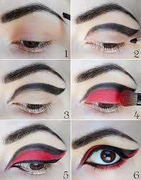 black and red unusual makeup tutorial