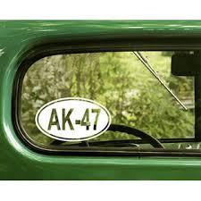 The Decal And Sticker Mafia 2 Ak 47 Oval Decals Ak47 Sticker Die Cut For Car Window Bumper Rv