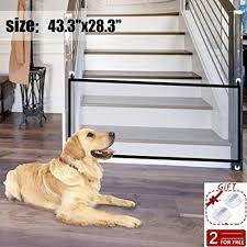 Buy 43 3 X28 3 Portable Folding Pet Gate Mesh Magic Gate For Dogs Magic Gate Baby Safety Fence Mesh Gate Isolated Gauze Indoor And Outdoor Safety Gate Install Anywhere Online At Low Prices In India