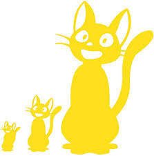 Amazon Com Jiji Decal Kiki Delivery Service Jiji Plush Cat Jiji Cat Stickers For Laptop Computer Apple Iphone Mac Air Macbook Pro Ipad A Jiji Plushie Vinyl Decals Sticker Yellow Home