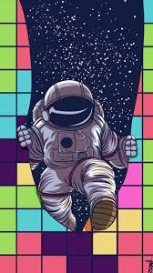 iphone wallpaper astronaut cartoon
