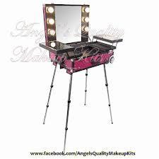 9616k 6 bulbs makeup kit organizer with