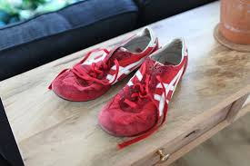 sneakers red white leather mens shoes