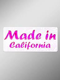 Amazon Com Jb Print Made In California Hot Pink Vinyl Decal Sticker Car Waterproof Car Decal Bumper Sticker 5 Automotive