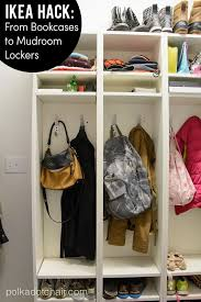 Ikea Hack Diy Mudroom Lockers From Ikea Bookcases Polka Dot Chair