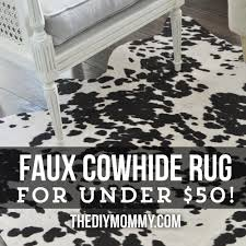 make a faux cowhide rug for under 50