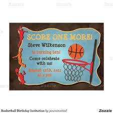 Invitacion Del Cumpleanos Del Baloncesto Zazzle Com