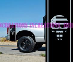 2020 For Universal Punisher Patriotic Hemi Dodge Bed Stripes Truck Decals Mopar Stickers Set Of 2 From Redchinatown 10 05 Dhgate Com