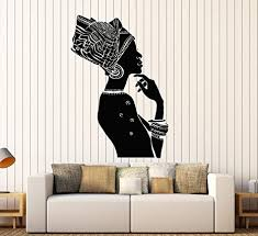 Amazon Com Vinyl Wall Decal African Beauty Woman Ethnic Style Afro Stickers Mural Large Decor Ig3851 Black Arts Crafts Sewing